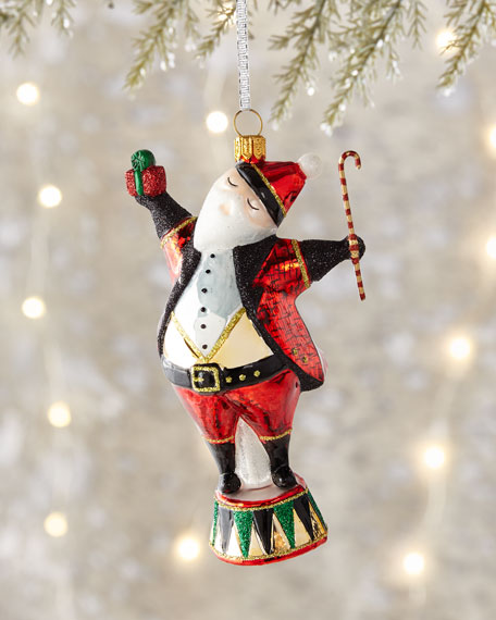 Christmas Book Art Santa Ornament