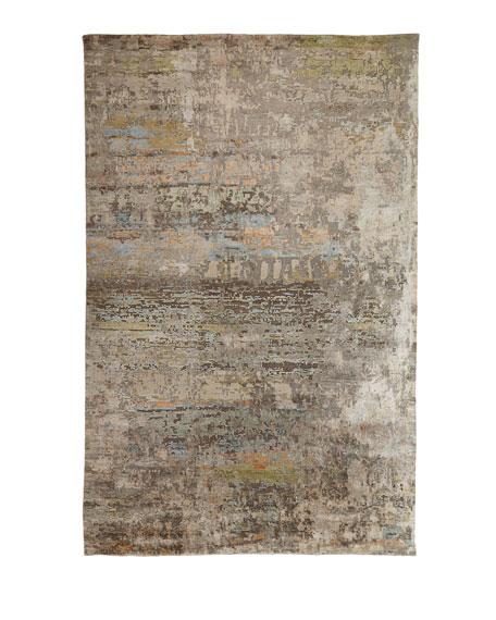 Lhasa Haze Hand-Knotted Runner, 2.6' x 10'