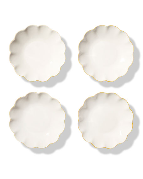 Scalloped Appetizer Plates, Set of 4