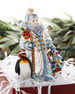 John Huras  Santa With Penguin Christmas Ornament