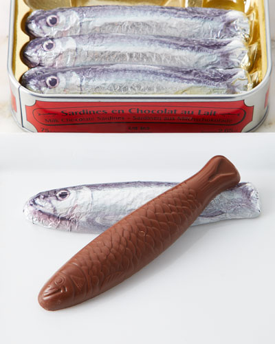 5 Milk Chocolate Shaped Sardines in Tin