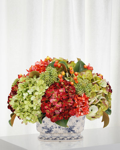 Mix Fall Floral in Ceramic Salver