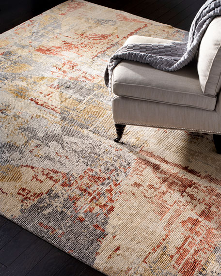 Bronny Hand-Knotted Rug, 6' x 9'