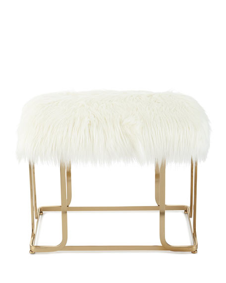 Victor Faux Fur Bench