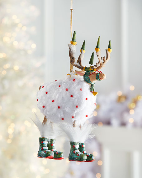 Patience Brewster Dash Away Blitzen Reindeer Ornament