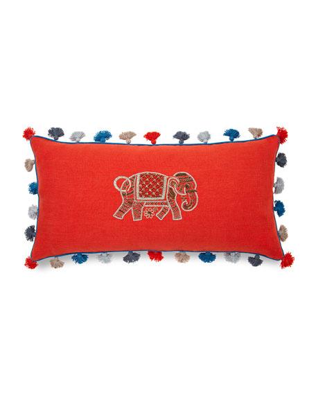 Joanna Buchanan Elephant Embroidered Pillow