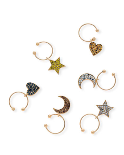 Celestial Wine Charms  Set of 6