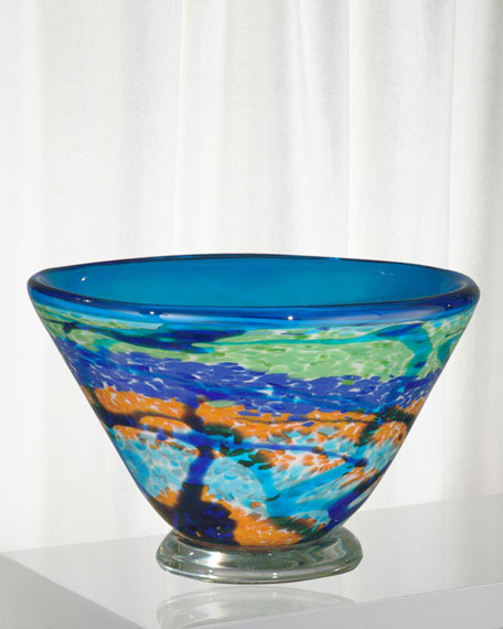 Henna Decorative Art Glass Bowl