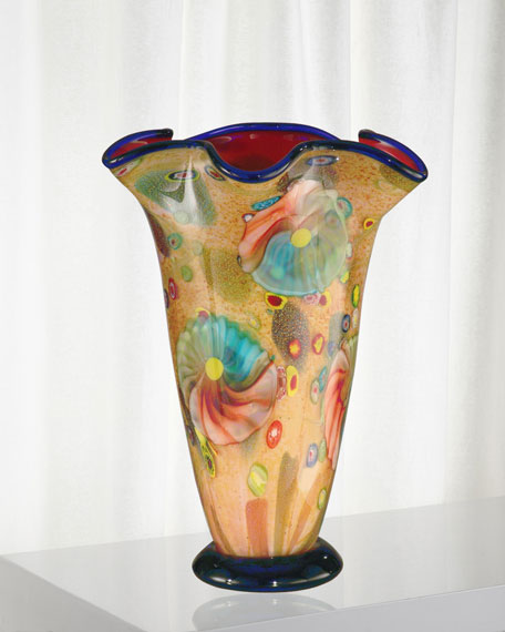 Dale Tiffany Coast Sand Decorative Art Glass Vase