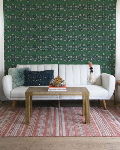 Block Print Floral Removable Wallpaper