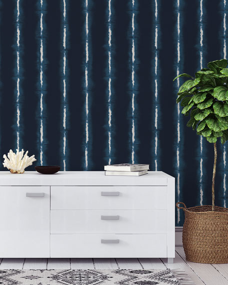 Shibori Lines Removable Wallpaper