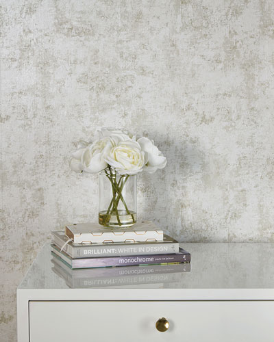 Distressed Gold Leaf Removable Wallpaper
