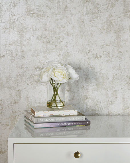Tempaper Distressed Gold Leaf Removable Wallpaper