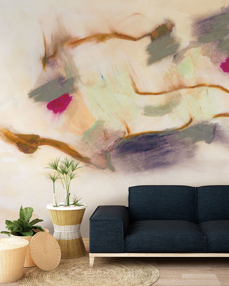 Smokey Abstract Removable Wallpaper Mural