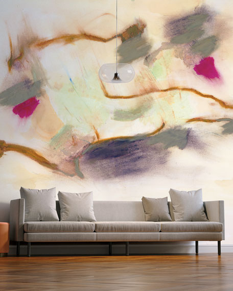Tempaper Smokey Abstract Removable Wallpaper Mural