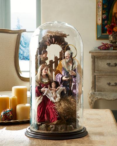 Extra Large Nativity on Plain Base