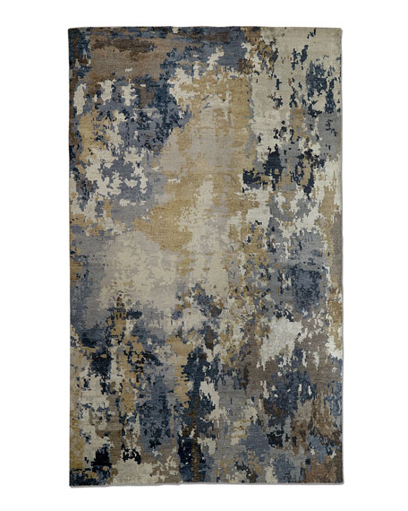 Leslie Hand-Knotted Rug, 6' x 9'