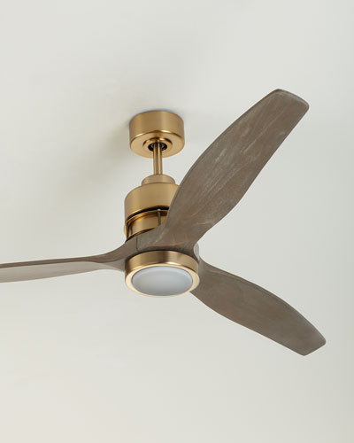 Sonnet Satin Brass Ceiling Fan