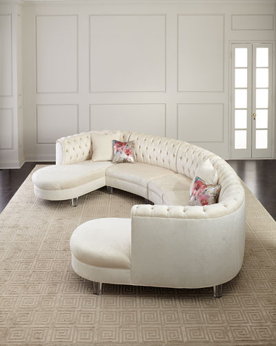 Pouf Double Chaise Sectional