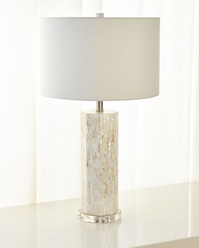 Octagonal Mother-of-Pearl Table Lamp