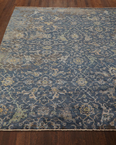 Carlino Hand-Knotted Rug  6' x 9'