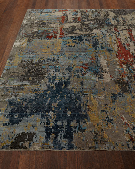 Layla Tibetan Weave Knotted Rug, 4' x 6'