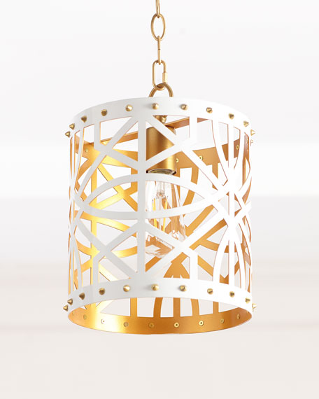 Couture Lamps Lazer Cut Studded Pendant