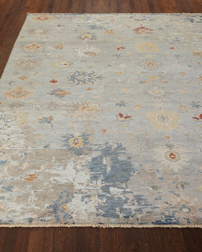 Deleese Hand-Knotted Rug  6' x 9'