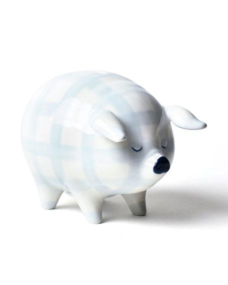 Gingham Piggy Bank