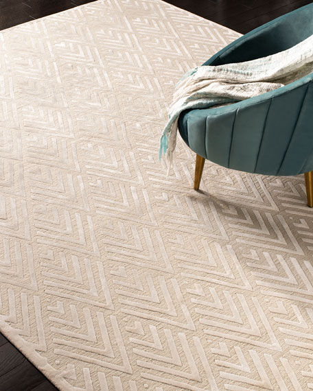 Jazz Age Hand-Knotted Rug, 6' x 9'