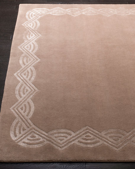 Dufrene Taupe Hand-Knotted Rug, 8' x 10'