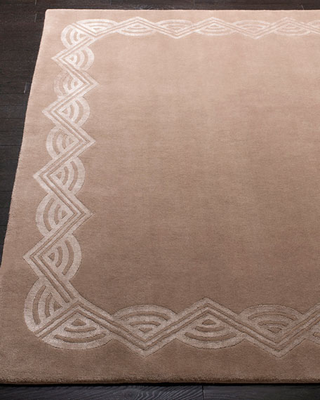 Dufrene Taupe Hand-Knotted Rug, 6' x 9'