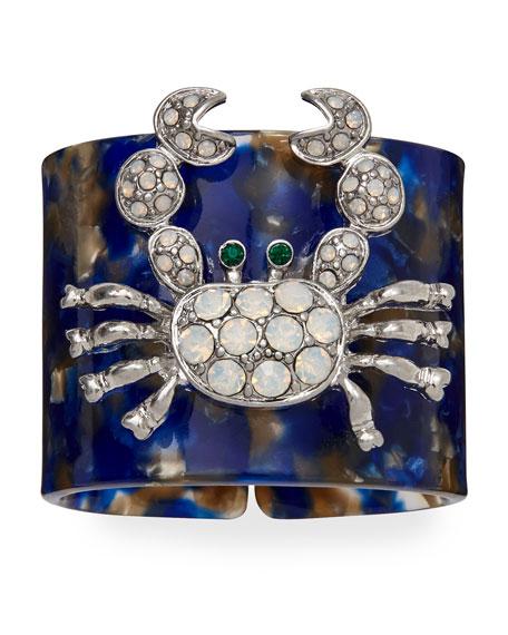 Joanna Buchanan Crab Blue Resin Napkin Rings, Set