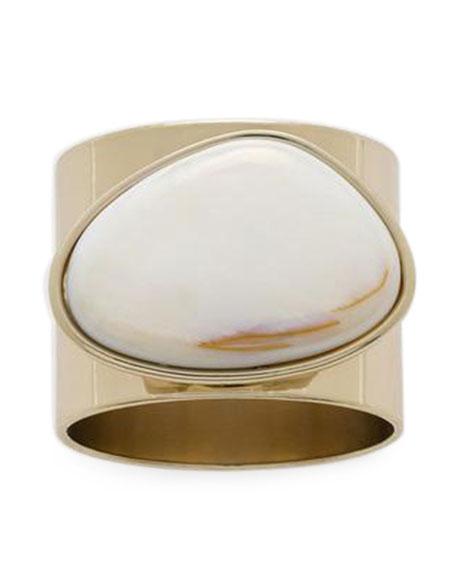 Joanna Buchanan Gilt Edge Shell Napkin Rings, Set