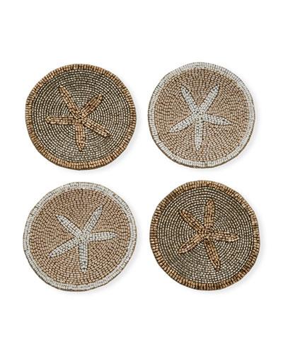 Starfish Coasters  Set of 4