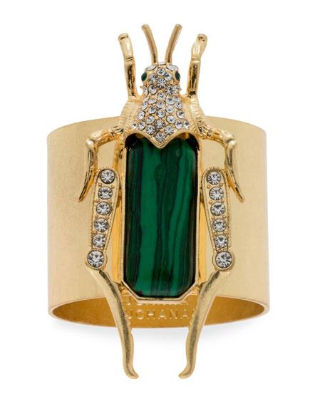 Grasshopper Napkin Rings, Set of 2