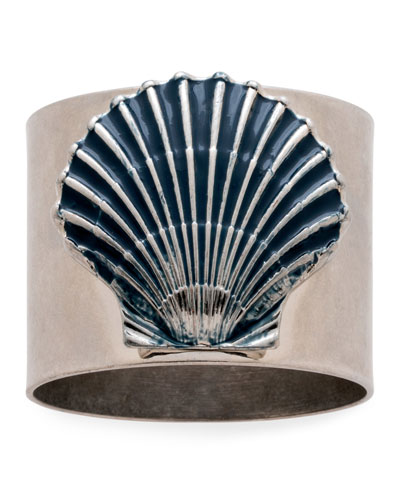 Painted Shell Napkin Rings  Set of 2