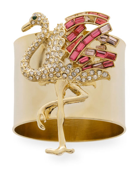 Joanna Buchanan Flamingo Napkin Rings, Set of 2