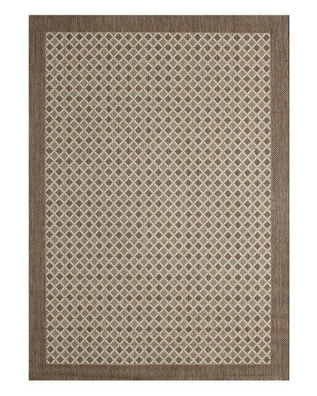 "Silver Collection Outdoor Rug, 5'3"" x 7'4"""