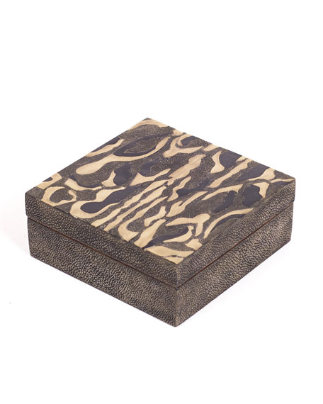 Kifu Paris Leopard Small Square Box