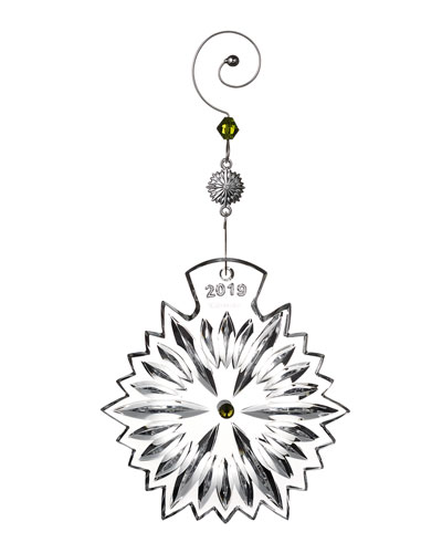 Snowflake Wishes Prosperity 2019 Christmas Ornament
