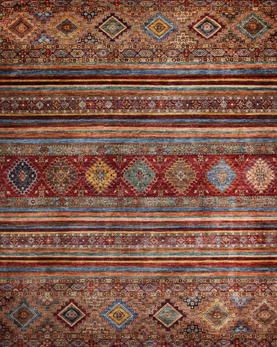 Robert Hand-Knotted One of a Kind Rug  8.11' x 11.9'
