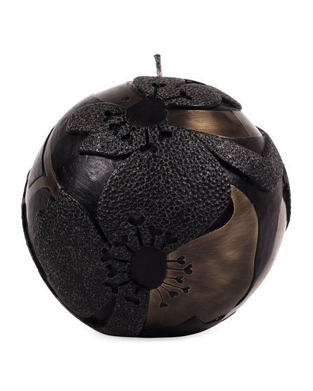 Sphere Small Flower Dark Candle