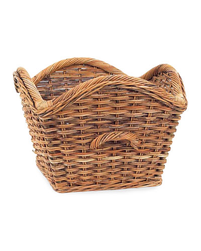 French Country Laurel Rattan Basket