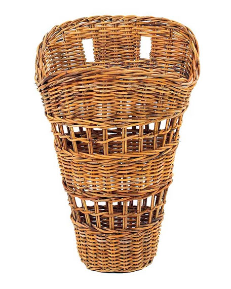 French Country Open Weave Basket