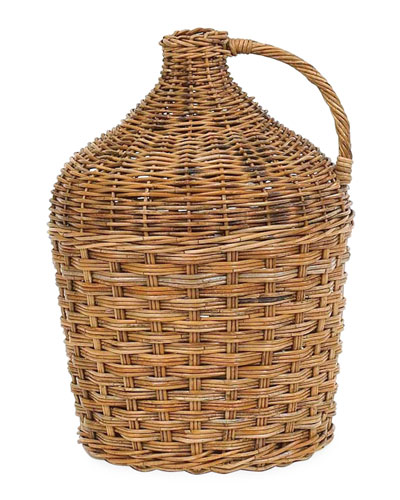 French Country Winery Rattan Basket