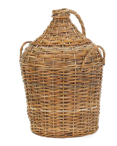 French Country Vintners Rattan Basket