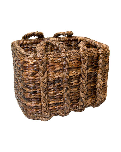 Sweater Weave Havana Large Rectangular Basket