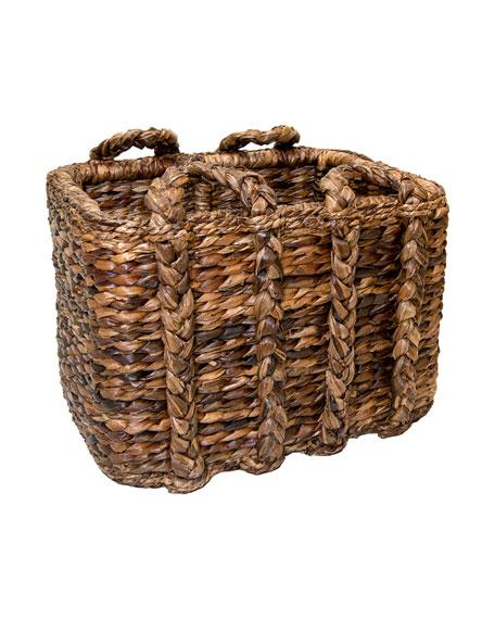 Sweater Weave Havana Large Rectangular Basket