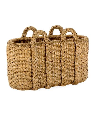Large Oval Sweater Weave Log Basket
